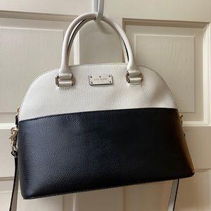 Kate Spade White & Black Satchel Bag